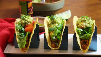 Chickpea Tacos - an easy and delicious weeknight meal that's ready in under a half an hour! cadryskitchen.com