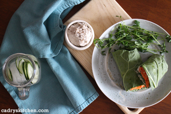 Collard wraps in Greens 24/7 by Jessica Nadel