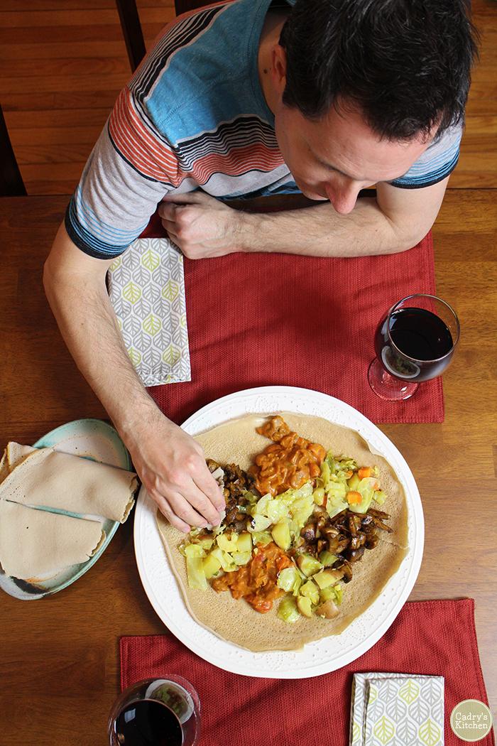 Vegan Ethiopian cookbook review | Teff Love: Adventures in Vegan Ethiopian Cooking by Kittee Berns | cadryskitchen.com