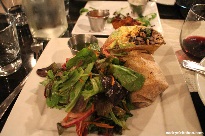 Black bean & plantain burrito at Sage in Culver City, California