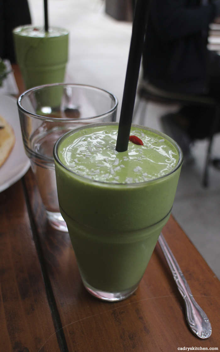 Cashew Kale Shake from Sun Cafe in Studio City, California.