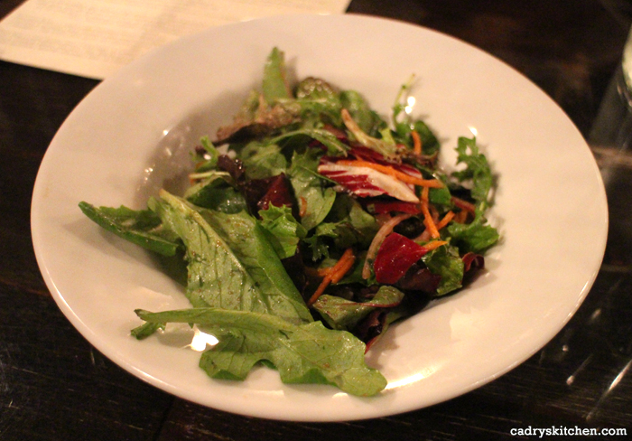 Side salad at Sage in Culver City, California