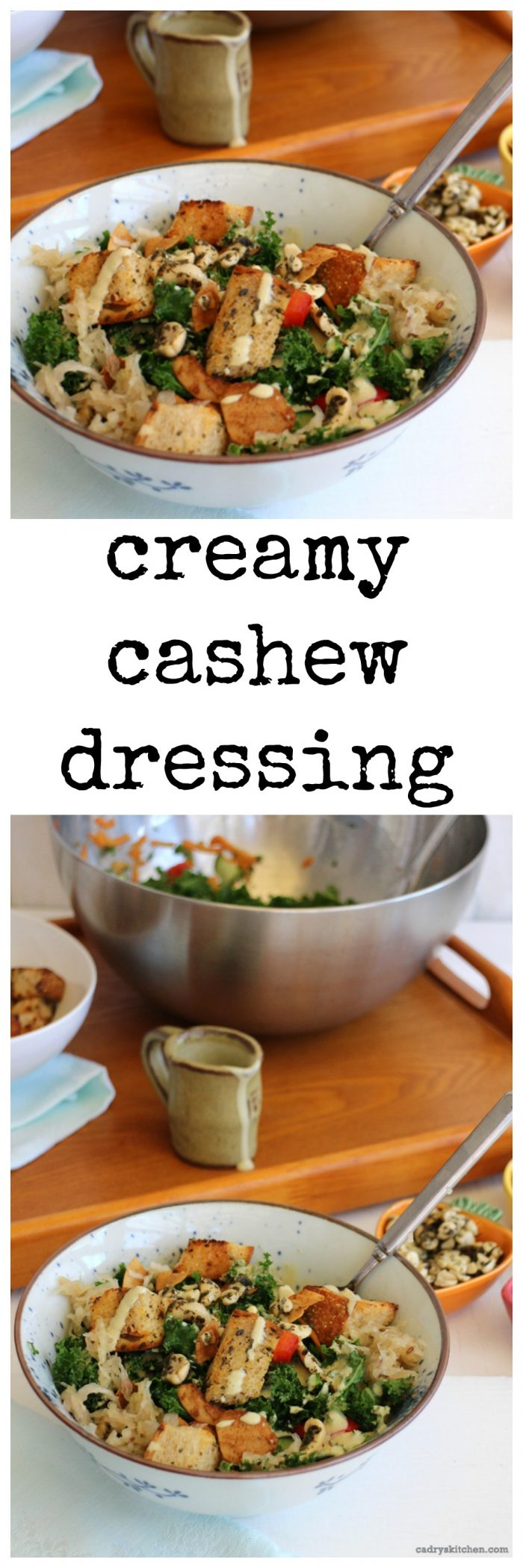 Creamy cashew dressing + 5 keys to a craveable salad | cadryskitchen.com #vegan