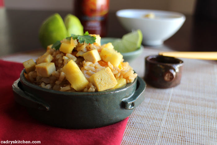 Pineapple Fried Rice with Eggy Tofu