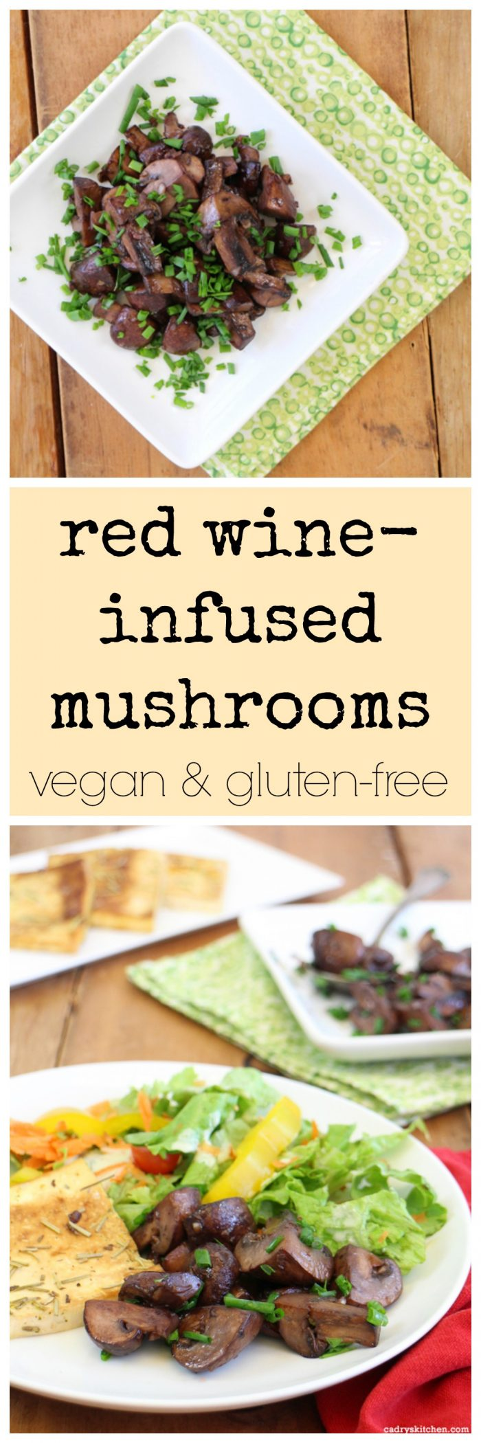 Red wine-infused mushrooms: A deliciously simple vegan side dish