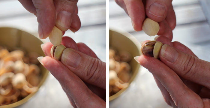 How to open even the most stubborn pistachios + a recipe for French lentils du Puy with caramelized onions