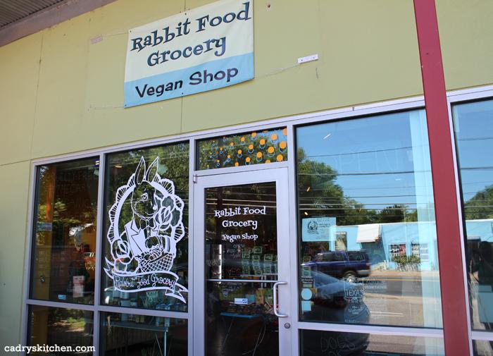 Exterior Rabbit Food Grocery Vegan Shop.