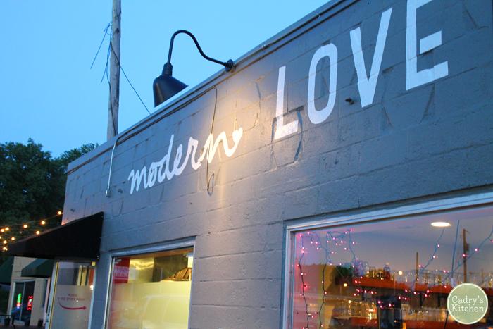 Exterior Modern Love in Omaha, Nebraska.