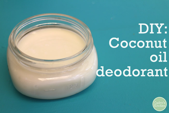 DIY: Coconut oil deodorant with just 3