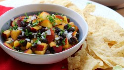 Peach & Black Bean Salsa - fruity & filling. This is the perfect summer salsa! | cadryskitchen.com