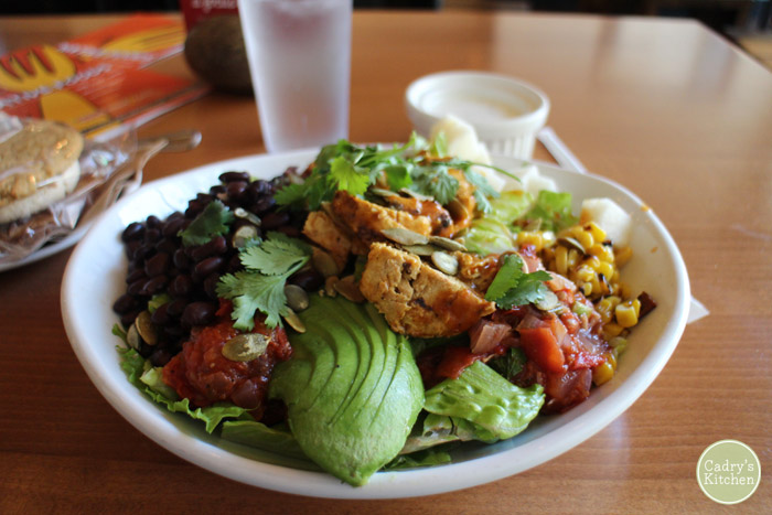 Mexican cobb salad with avocado at Native Foods.