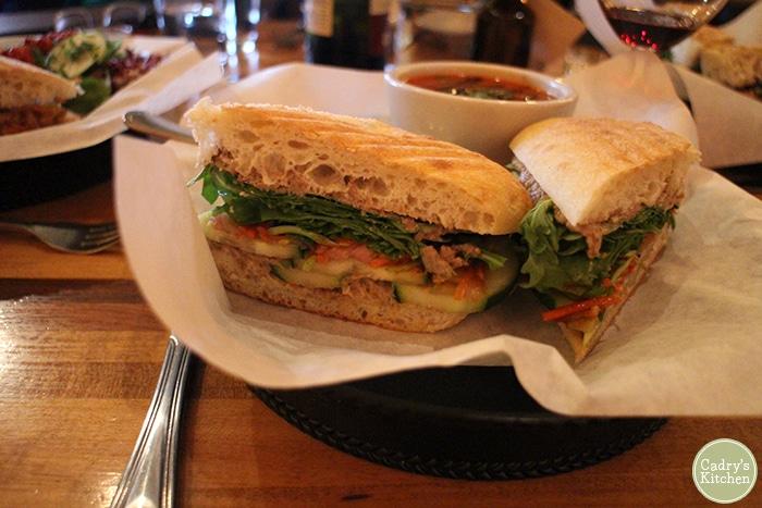 Vegan banh mi with lentil pate at Brix in Iowa City.