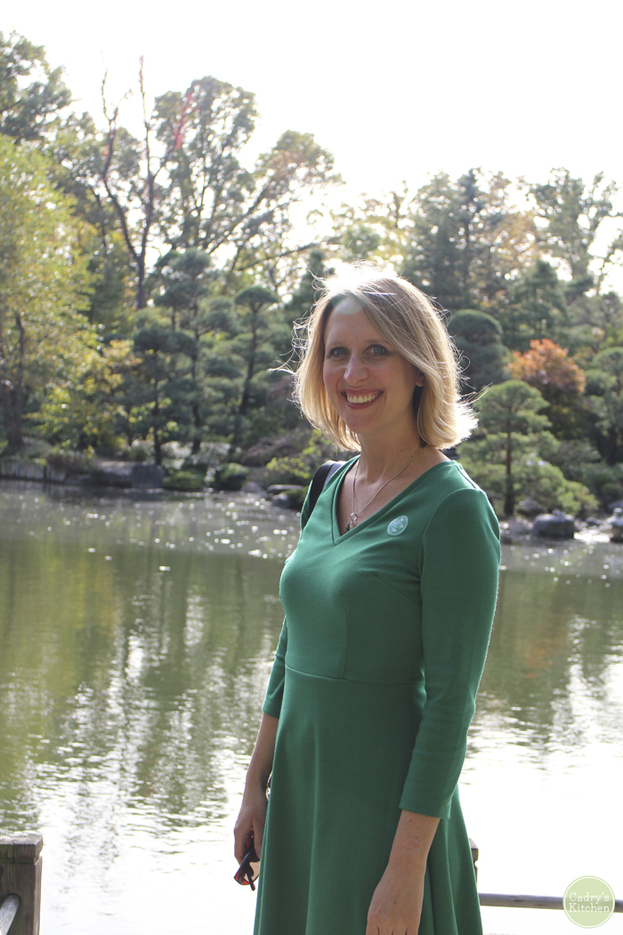 Cadry Nelson at Japanese gardens in Illinois.
