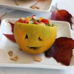 Holiday Mash-Up:  Jack O'Lantern Salad with Peanut Dressing