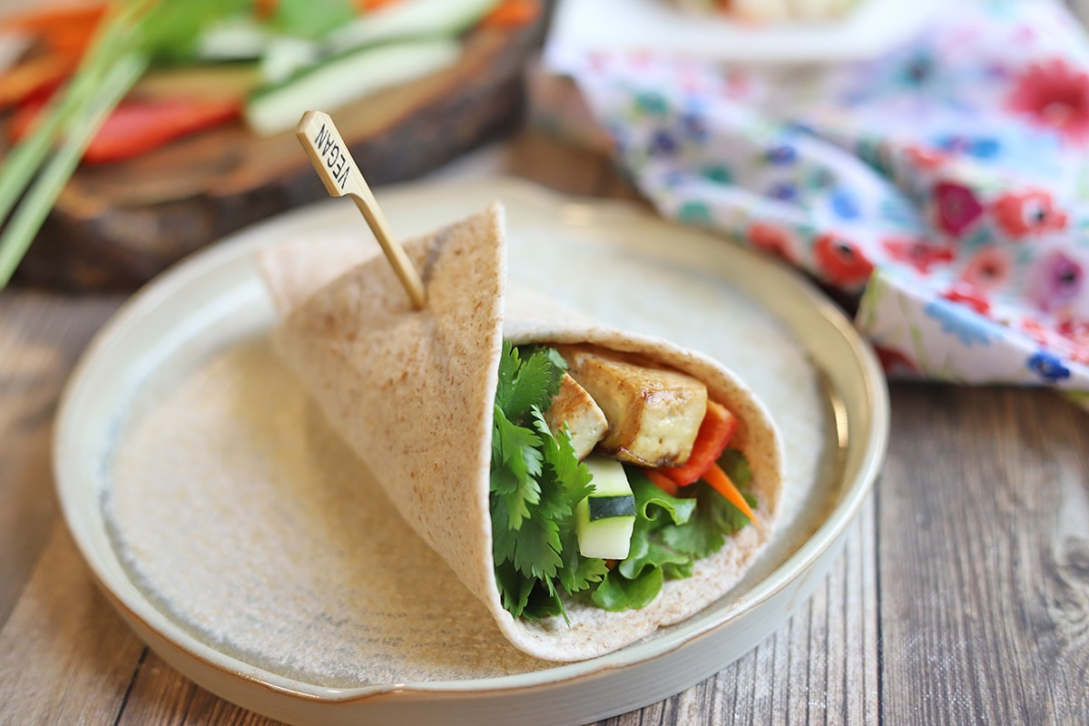 Spring Roll Tortilla Wrap With Spicy Peanut Sauce Cadry S Kitchen