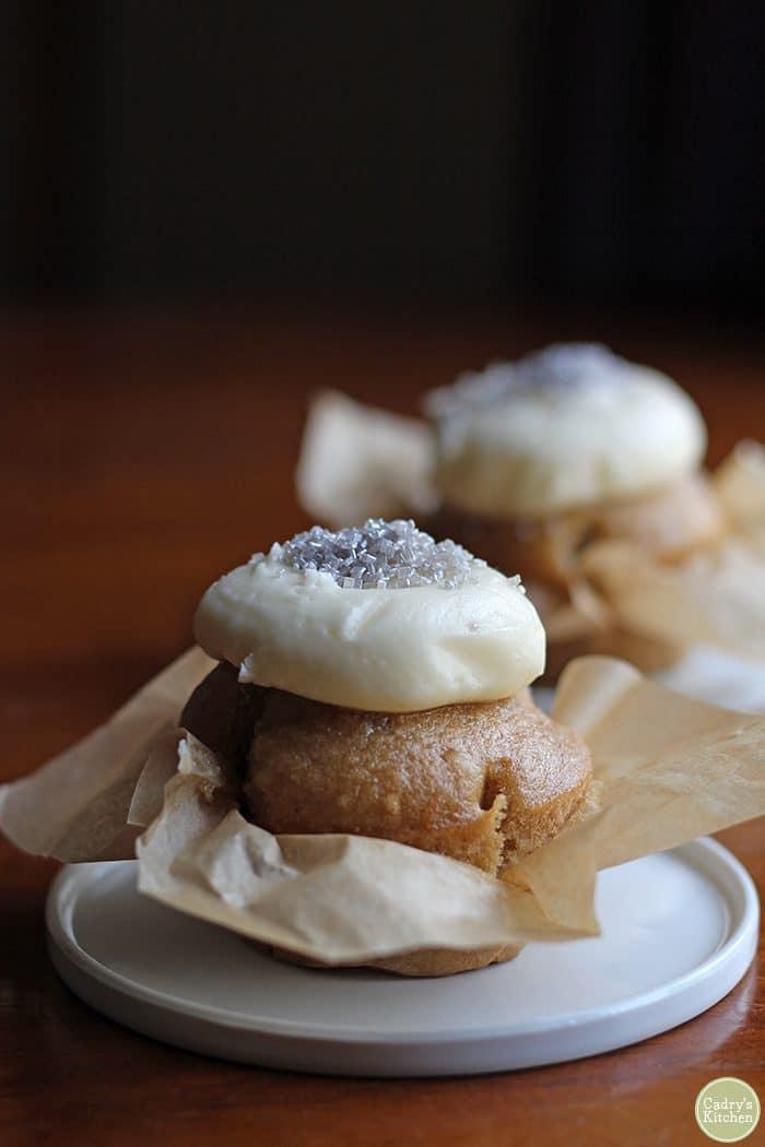 Vegan wedding cupcake from Scratch Cupcakery.