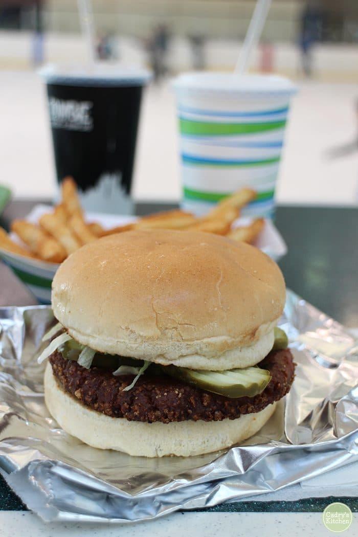 Vegan burger at Zombie Burger in Coral Ridge Mall.