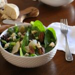 Roasted Apple Salad with Candied Pecans