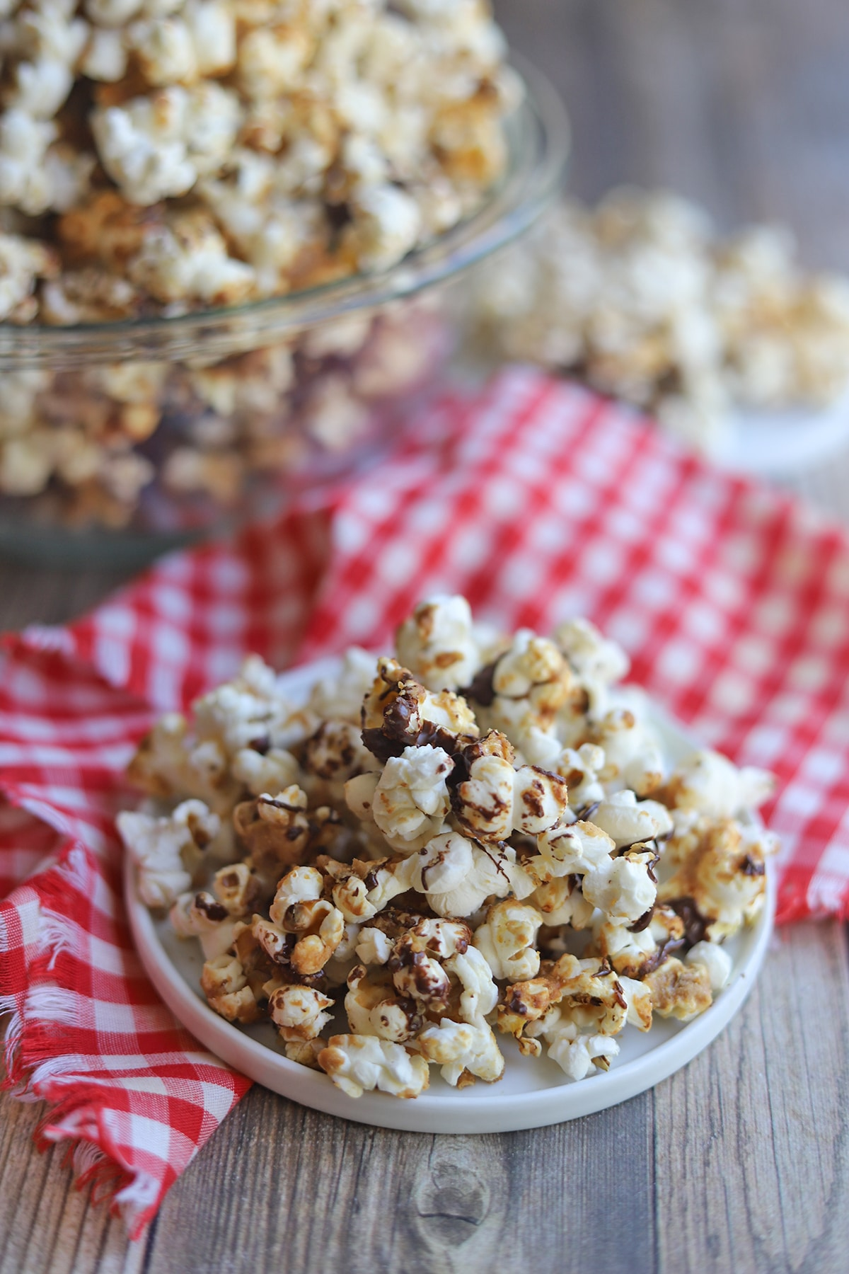 Small plate with flavored popcorn.