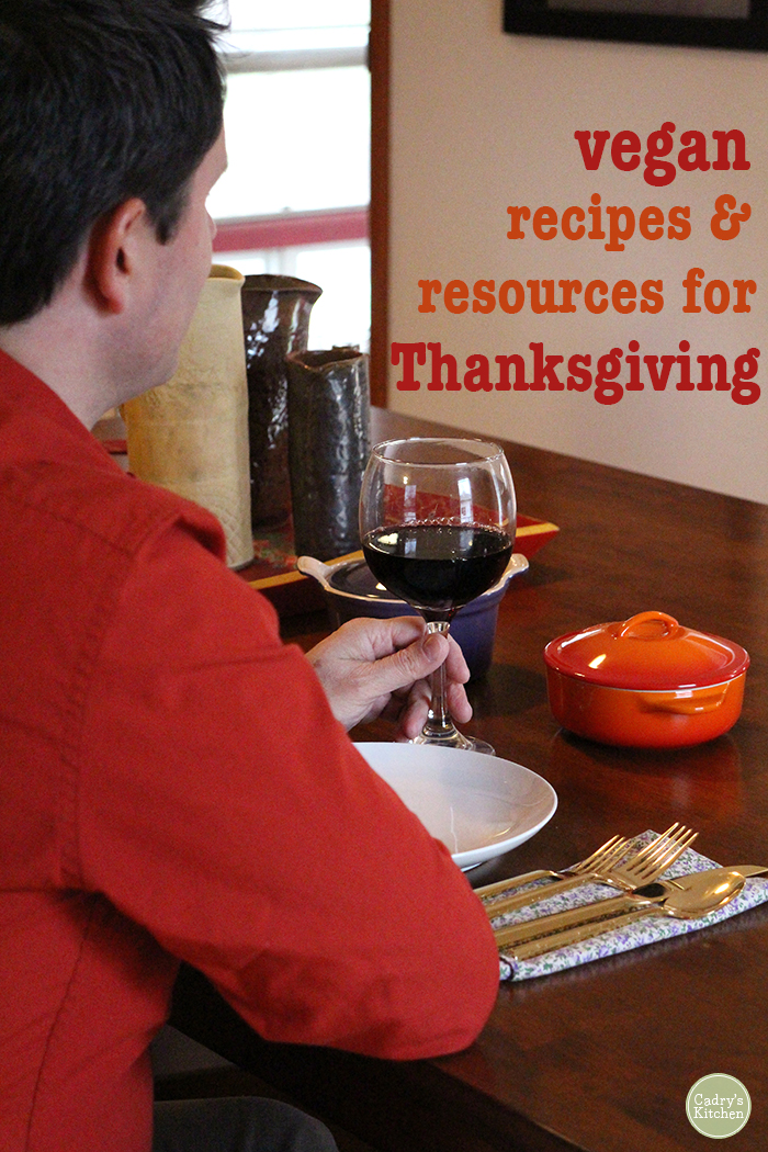 40 vegan recipes & resources for Thanksgiving: Menu items from appetizers through dessert. Plus, tips for navigating the social aspects of being vegan at the holidays. | cadryskitchen.com