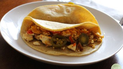 Mighty migas recipe + Taco Cleanse cookbook giveaway | cadryskitchen.com #vegan
