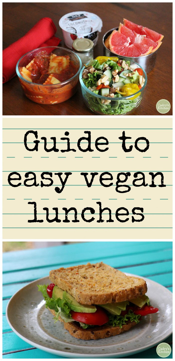 Vegan meals don't have to be hard! Check out this guide to easy vegan lunches.   cadryskitchen.com