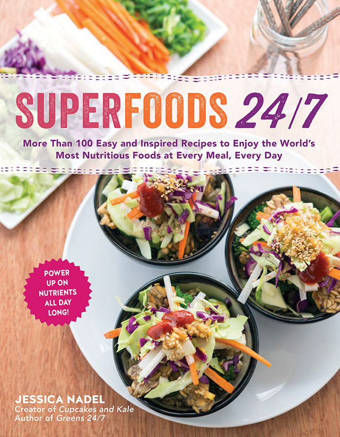 Superfoods 24/7 cookbook cover.