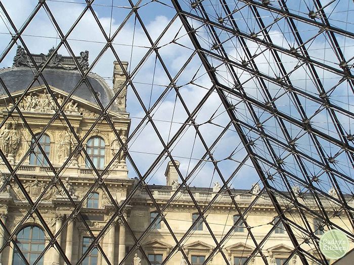 Exterior of the Louvre.