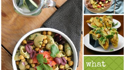 What do vegans eat on an ordinary day? Here are my meals from one day in February - pasta with pesto, Ethiopian fava beans, and fishless tacos. | cadryskitchen.com