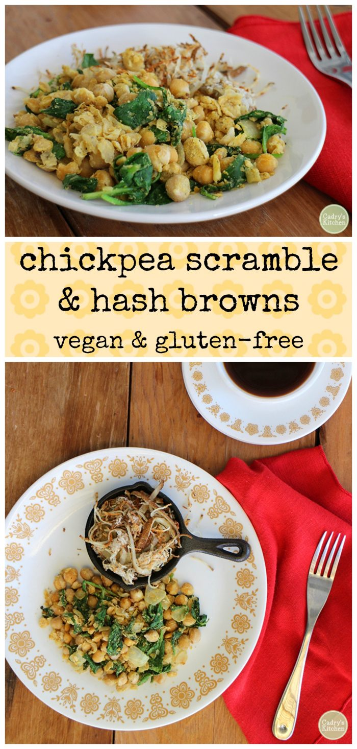 Chickpea scramble & hash browns - a hearty vegan & gluten-free breakfast | cadryskitchen.com
