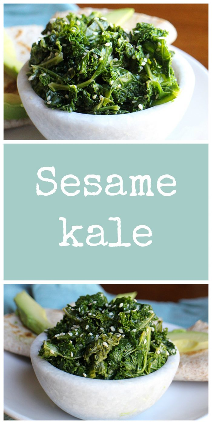 Give your usual greens routine a change with this sesame kale. Nutty kale is a delicious vegan and gluten-free side dish. | cadryskitchen.com