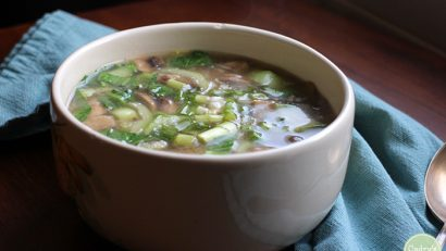 This cold-kicking miso soup is soothing on the throat and warming to the body when cold season strikes | cadryskitchen.com