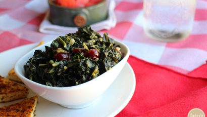 Smoky sweet collard greens: A mouthwatering side dish for BBQ or vegan mac and cheese   cadryskitchen.com