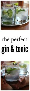 The perfect gin and tonic with fresh mint and lime | cadryskitchen.com