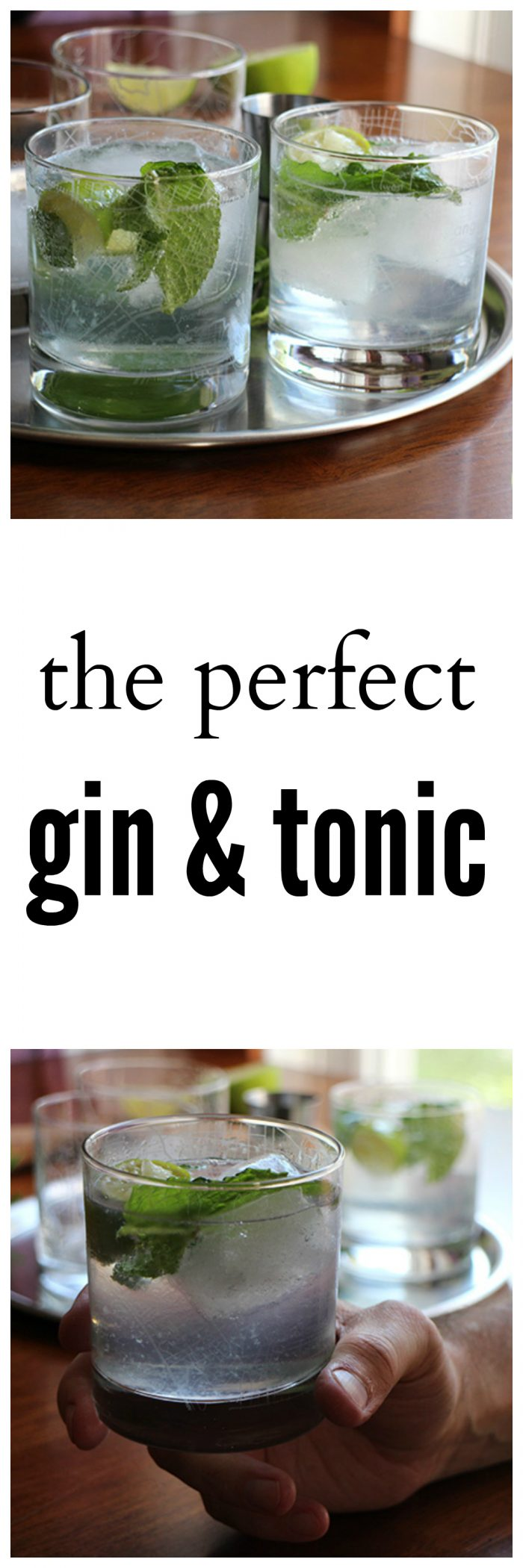 The perfect gin and tonic cocktail with fresh mint and lime | cadryskitchen.com