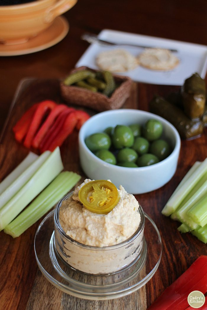 Jalapeño cashew cheese spread: A delicious addition to your vegan charcuterie board | cadryskitchen.com
