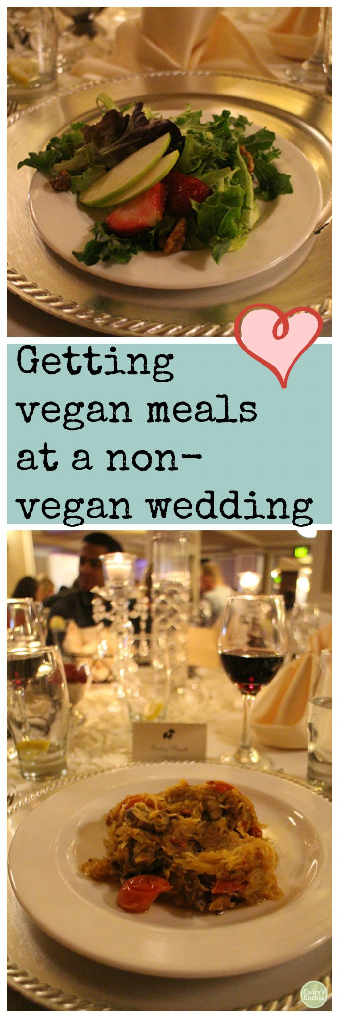 Vegan but going to a non-vegan wedding? Here's how to make sure you don't go through the night hungry. | cadryskitchen.com