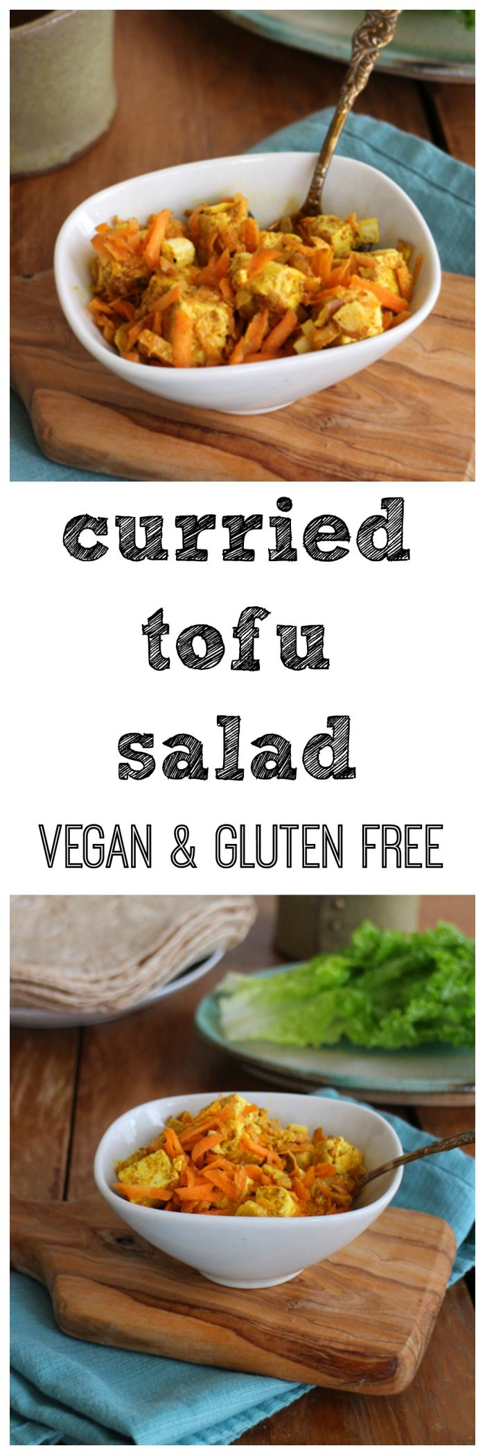 This tasty curried tofu salad is delicious as a side, in a sandwich, or stuffed into a wrap. It's vegan & gluten-free. | cadryskitchen.com
