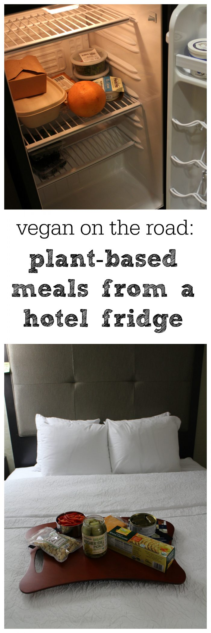 How to eat vegan meals in a hotel, even if you only have a dorm-sized refrigerator | cadryskitchen.com