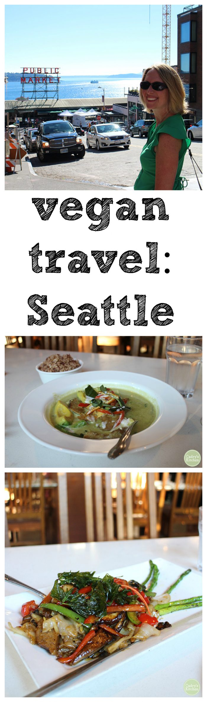 Tips on where to go in Seattle. Don't miss Vegan Haven, Araya's Place, Olympic Sculpture Park, and the best view of the Space Needle at Kerry Park. #vegan #travel #seattle #washington