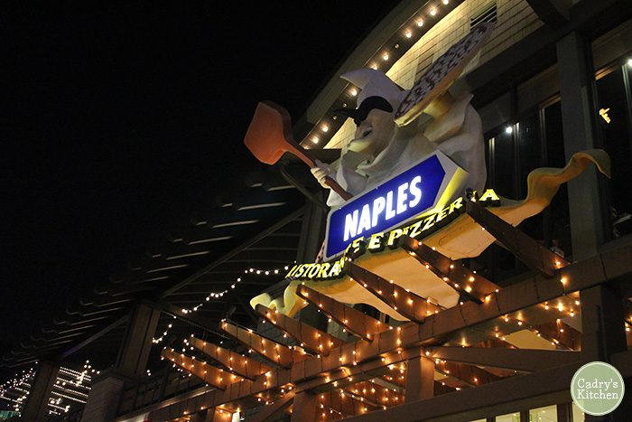Exterior Naples restaurant and pizzeria in Downtown Disney.