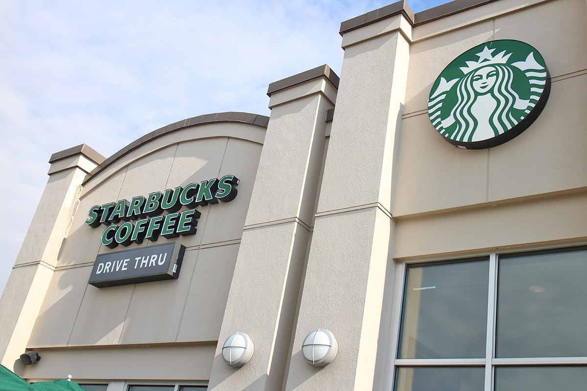 Exterior Starbucks Coffee.