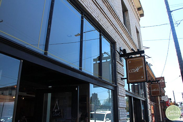 Exterior Harlow restaurant in Portland, Oregon.
