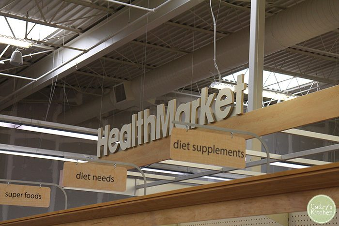 Health Market sign at Hy-Vee.
