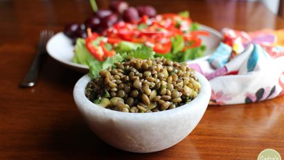 Best marinated lentils recipe + Oh She Glows Every Day review and giveaway   cadryskitchen.com #vegan