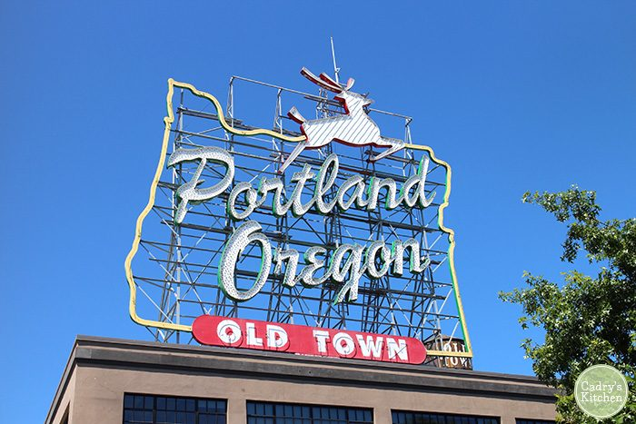 Portland Oregon Old Town sign during the day.