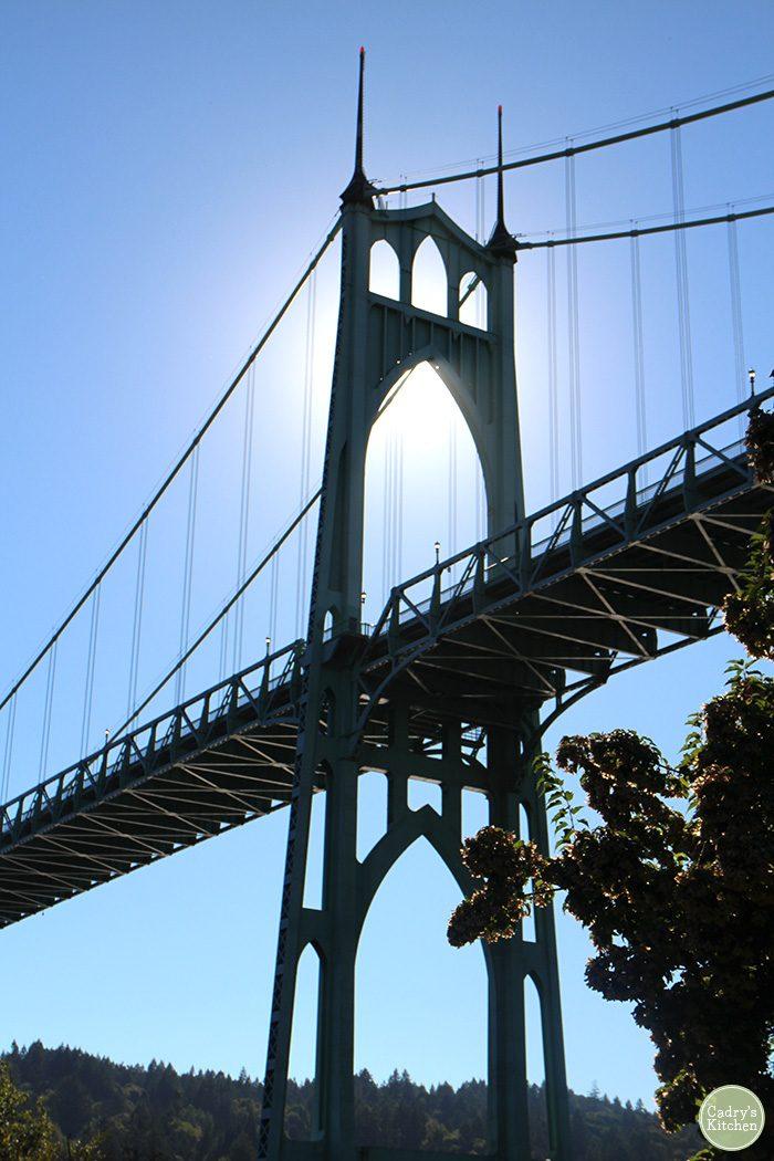 St. John's Bridge in the sunlight.