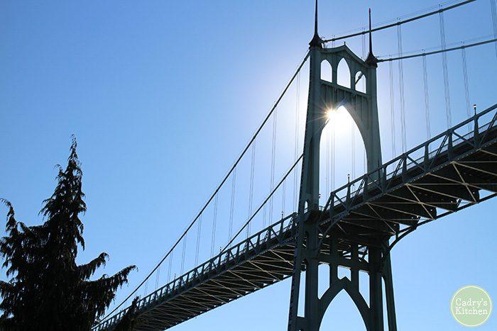 St. John's Bridge in Portland, Oregon.