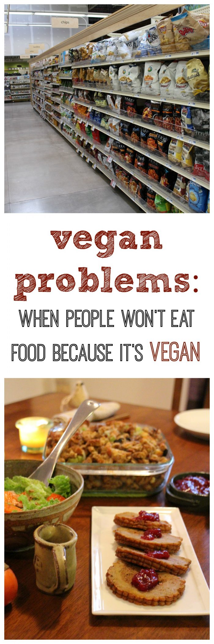 """Vegan food consists of food that everyone eats - fruits, vegetables, beans, nuts, and seeds. However, some people are immediately distrustful and put off by """"vegan food."""" Some people won't even taste it. That can be especially tricky at potlucks and holidays like Thanksgiving. Here's what I do when cooking for non-vegans. 