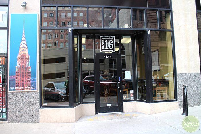 Exterior Block 16 in Omaha, Nebraska.
